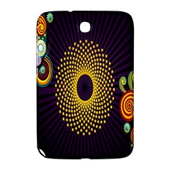 Polka Dot Circle Leaf Flower Floral Yellow Purple Red Star Samsung Galaxy Note 8.0 N5100 Hardshell Case