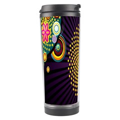 Polka Dot Circle Leaf Flower Floral Yellow Purple Red Star Travel Tumbler