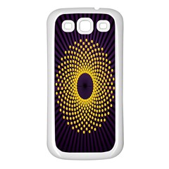 Polka Dot Circle Leaf Flower Floral Yellow Purple Red Star Samsung Galaxy S3 Back Case (White)