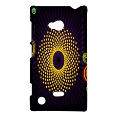 Polka Dot Circle Leaf Flower Floral Yellow Purple Red Star Nokia Lumia 720
