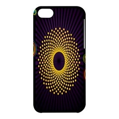 Polka Dot Circle Leaf Flower Floral Yellow Purple Red Star Apple iPhone 5C Hardshell Case
