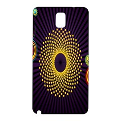 Polka Dot Circle Leaf Flower Floral Yellow Purple Red Star Samsung Galaxy Note 3 N9005 Hardshell Back Case