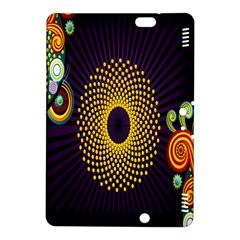 Polka Dot Circle Leaf Flower Floral Yellow Purple Red Star Kindle Fire HDX 8.9  Hardshell Case
