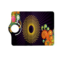 Polka Dot Circle Leaf Flower Floral Yellow Purple Red Star Kindle Fire HD (2013) Flip 360 Case