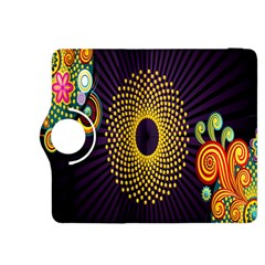 Polka Dot Circle Leaf Flower Floral Yellow Purple Red Star Kindle Fire HDX 8.9  Flip 360 Case
