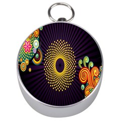 Polka Dot Circle Leaf Flower Floral Yellow Purple Red Star Silver Compasses