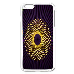 Polka Dot Circle Leaf Flower Floral Yellow Purple Red Star Apple iPhone 6 Plus/6S Plus Enamel White Case