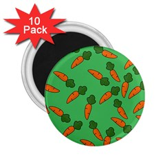 Carrot pattern 2.25  Magnets (10 pack)
