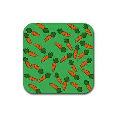 Carrot pattern Rubber Square Coaster (4 pack)