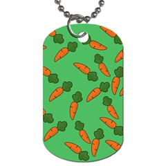 Carrot pattern Dog Tag (Two Sides)