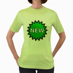 New Icon Sign Women s Green T-Shirt