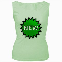 New Icon Sign Women s Green Tank Top