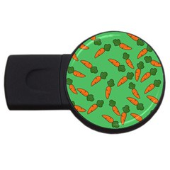 Carrot pattern USB Flash Drive Round (4 GB)
