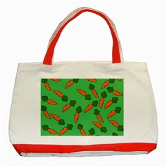 Carrot pattern Classic Tote Bag (Red)