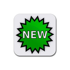 New Icon Sign Rubber Square Coaster (4 pack)