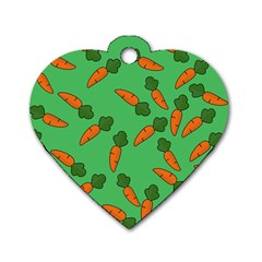 Carrot pattern Dog Tag Heart (One Side)