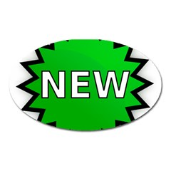 New Icon Sign Oval Magnet