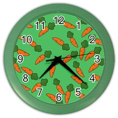 Carrot pattern Color Wall Clocks