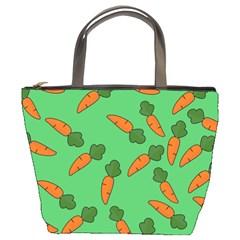 Carrot pattern Bucket Bags