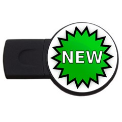 New Icon Sign USB Flash Drive Round (4 GB)