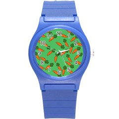 Carrot pattern Round Plastic Sport Watch (S)
