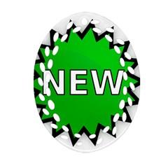 New Icon Sign Ornament (Oval Filigree)