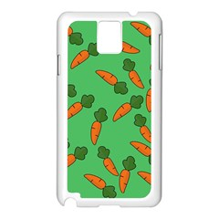 Carrot pattern Samsung Galaxy Note 3 N9005 Case (White)