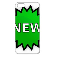 New Icon Sign Apple Seamless iPhone 5 Case (Clear)