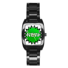 New Icon Sign Stainless Steel Barrel Watch