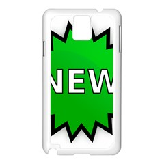 New Icon Sign Samsung Galaxy Note 3 N9005 Case (White)