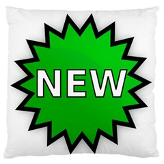 New Icon Sign Large Flano Cushion Case (Two Sides)