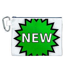 New Icon Sign Canvas Cosmetic Bag (L)