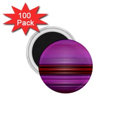 Stripes Line Red Purple 1.75  Magnets (100 pack)