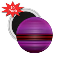 Stripes Line Red Purple 2.25  Magnets (10 pack)