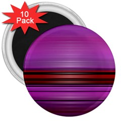Stripes Line Red Purple 3  Magnets (10 pack)