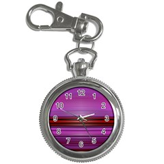 Stripes Line Red Purple Key Chain Watches