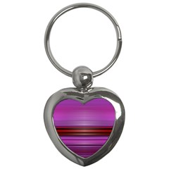 Stripes Line Red Purple Key Chains (Heart)