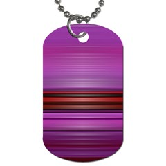 Stripes Line Red Purple Dog Tag (One Side)