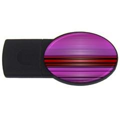 Stripes Line Red Purple USB Flash Drive Oval (2 GB)