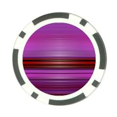 Stripes Line Red Purple Poker Chip Card Guard