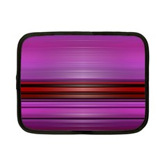 Stripes Line Red Purple Netbook Case (Small)