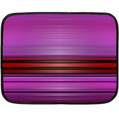 Stripes Line Red Purple Fleece Blanket (Mini)