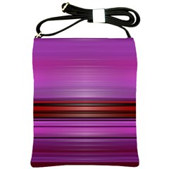 Stripes Line Red Purple Shoulder Sling Bags