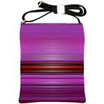 Stripes Line Red Purple Shoulder Sling Bags Front