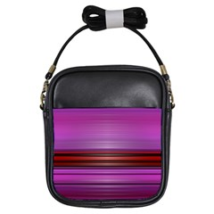 Stripes Line Red Purple Girls Sling Bags