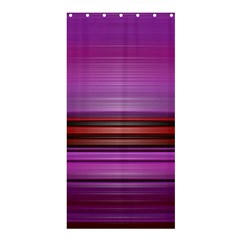 Stripes Line Red Purple Shower Curtain 36  x 72  (Stall)
