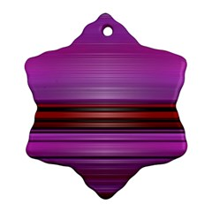 Stripes Line Red Purple Snowflake Ornament (Two Sides)