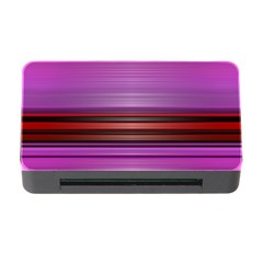 Stripes Line Red Purple Memory Card Reader with CF