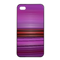 Stripes Line Red Purple Apple Iphone 4/4s Seamless Case (black)