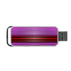 Stripes Line Red Purple Portable USB Flash (Two Sides)